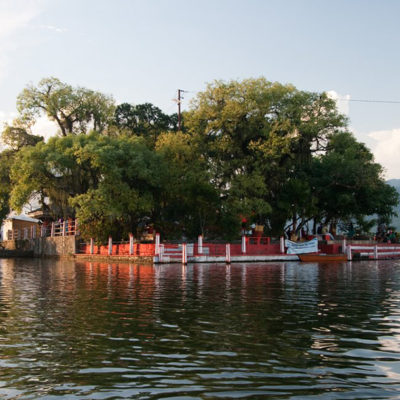 Temple of Barahi in middle of Phewa Lake